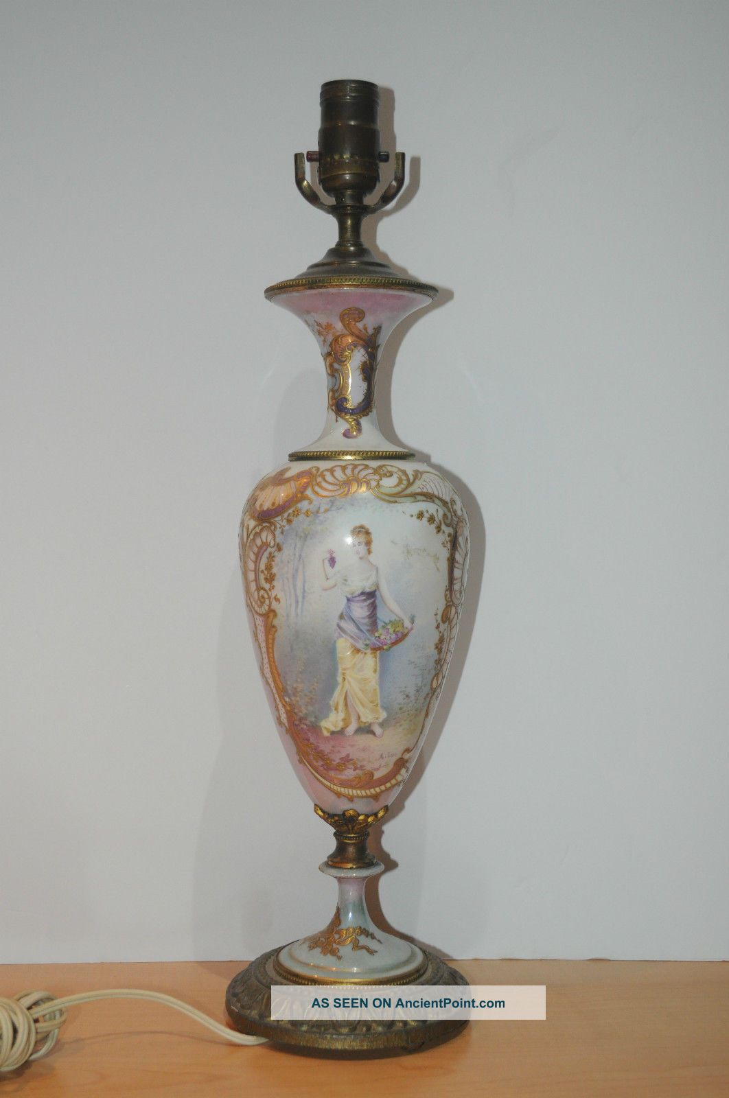 Antique Hand Painted Lamps Bing Images