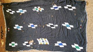 Old Zulu,  Tsonga,  Xhosa,  Ndebele Tribal Beaded Black Skirt photo