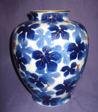 Great Antique Imari Fukagawa Japanese Porcelain Vase Hand Painted Circa 1910 photo