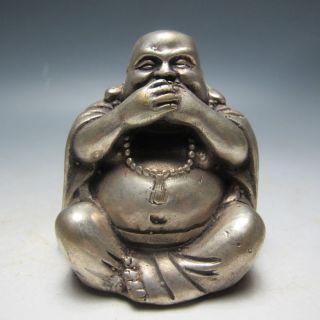 Rare Chinese Bronze Buddha Statue photo