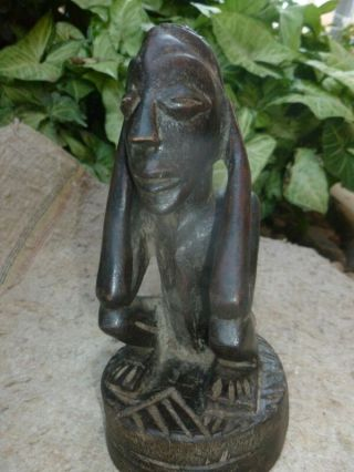 Home Passe Figure African Statues Wood African Tribal Art 19 Cm By 6.  5 Cm photo