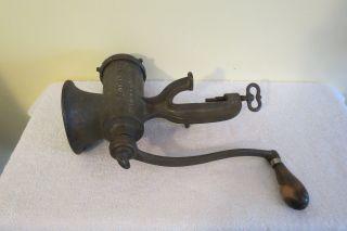 Antique Old Metal Cast Iron Enterprise Mfg No 10 Tinned Meat Chopper Grinder photo
