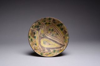 Antique Islamic Ceramic Near Eastern Nishapur Pottery Bowl - 900 Ad photo