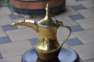 Large Arabia Arabic Islamic Antique Copper Coffee/tea Pot Middle Eastern Turkish photo