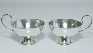 Polished Pair Swedish 830 Silver Demitasse Espresso Tea Cups By Ceson Göteborg photo