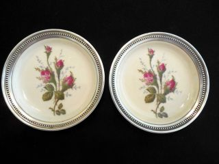 Vintage Matched Pair Rosenthal Sterling Silver & Porcelain Mint Dishes photo