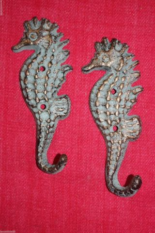 (4) Bronze Look,  Seahorse,  Wall Hooks,  Coat Hook,  Christmas Gift,  Girls N - 25 photo