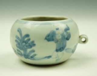 Chinese Blue And White Porcelain Children Playing Pattern Pot / Jar 1 photo