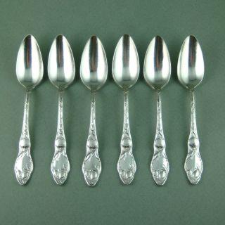 Oneida Silver Orange Fruit Spoons Set 6 Art Nouveau photo