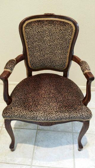 Cheetah Animal Print Arm Chairs photo