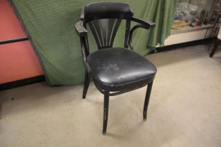 Vintage 1950 ' S Wooden Arm Chair Made By L&b Products photo
