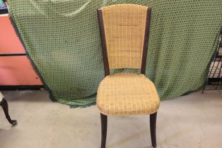 Vintage High Back Cane Chair photo