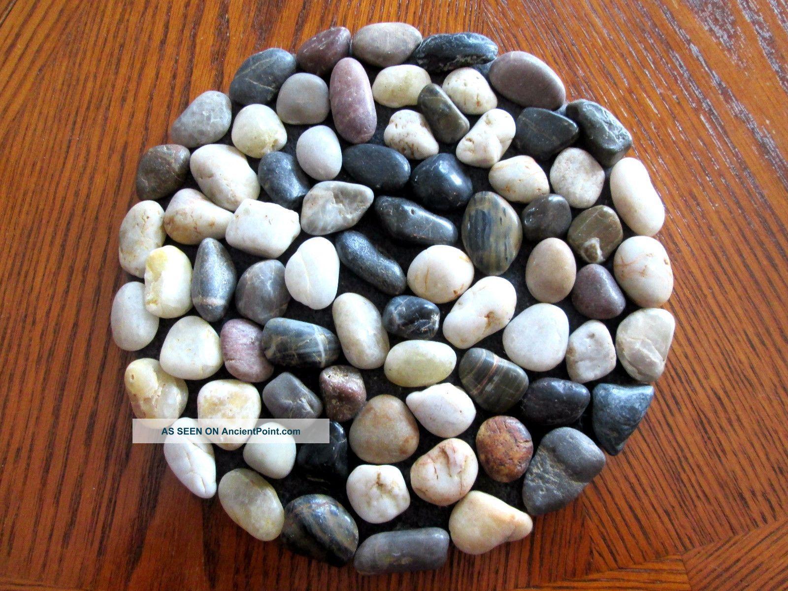 Multiple Color Size Heavy Stones Trivet 8