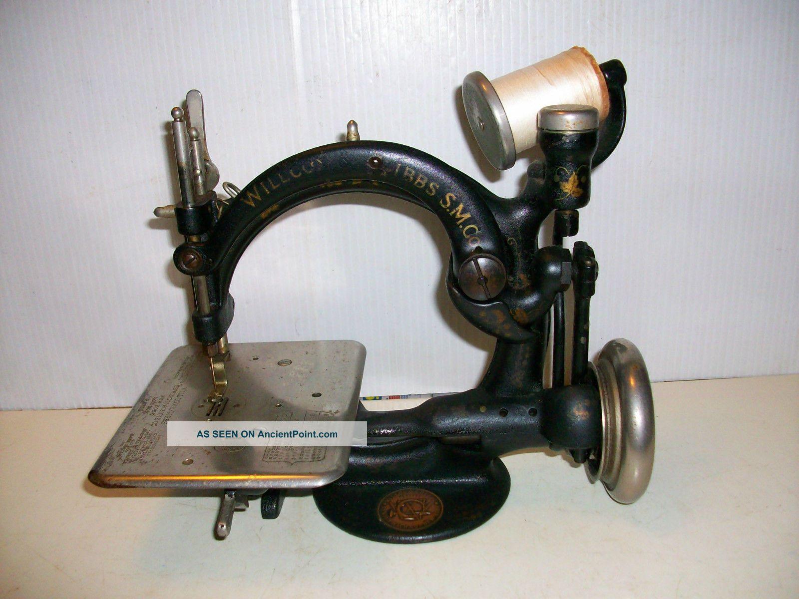 Antique Wilcox Willcox Gibbs Sewing Machine Works 1894 Sewing Machines photo