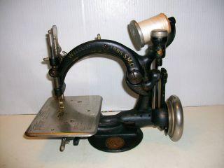 Antique Wilcox Willcox Gibbs Sewing Machine Works 1894 photo