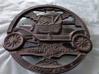 Ford Model T Roadster 1914 Cast Iron Trivet Greenfield Village - 1952 Good Cond photo