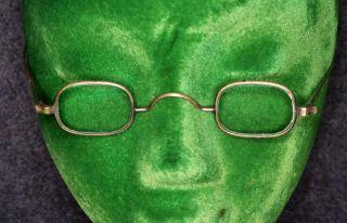 Eye Glasses Specks Antique 18th 19th Square Civil War Era 1800 Metal Frame photo