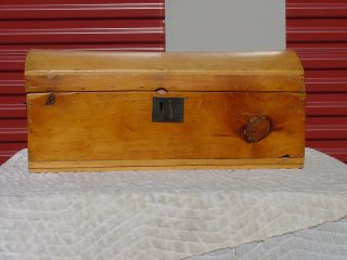 Antique Trunk Circa 1820 ' S/1830 ' S 1832 Newspaper Inside Smaller Size photo