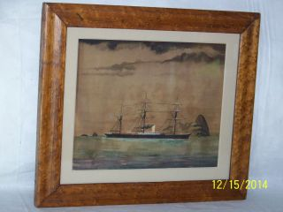Antique C18th Century Maritime Painting
