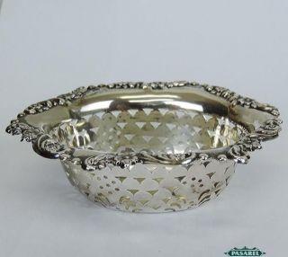 Fine Edwardian Sterling Silver Pin Dish William Aitken Birmingham England 1902 photo