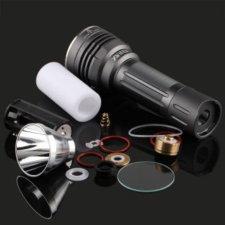 Xintd X3 Flashlight Host,  Include Smo Reflector,  Head O Ring,  Glass,  Spring,  Switch photo