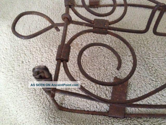 Antique,  Trivet For Sad Iron,  French Wire,  Primitive,  Usa,  C 1890 Trivets photo