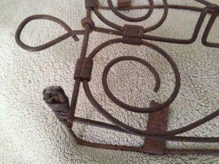 Antique,  Trivet For Sad Iron,  French Wire,  Primitive,  Usa,  C 1890 photo