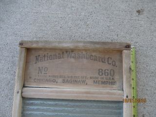 Antique Primitive National Washboard Co No.  860 Glass Washboard Rustic Decor photo
