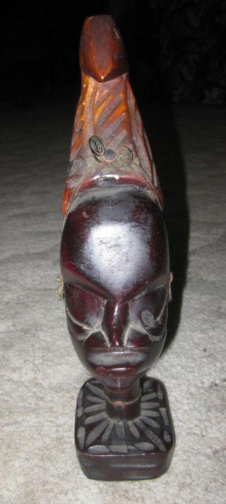 African Tribal Or Folk Art Wood Carving Statue Figurine photo