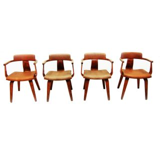 Mid - Century Modern Set Of 4 Thonet Chairs,  Eames C.  1940 2125 photo