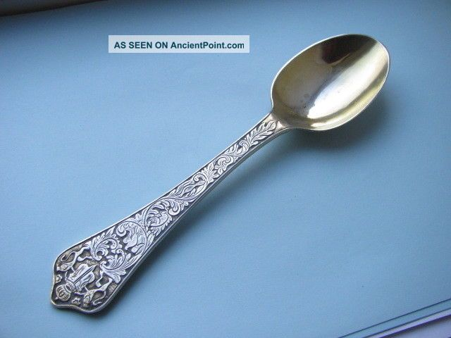 Early Russian Silver Gilded Presentation Serving Spoon 70g Spectacular & Mint. Uncategorized photo