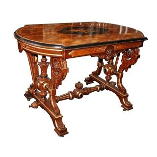 Antique 19th C.  Inlaid Table 6118 photo