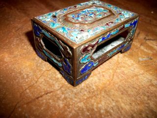 Chinese Vintage Cloisonne Match Holder photo