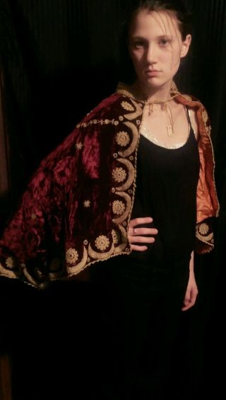 Antique Palestinian Opera/wedding Cape photo