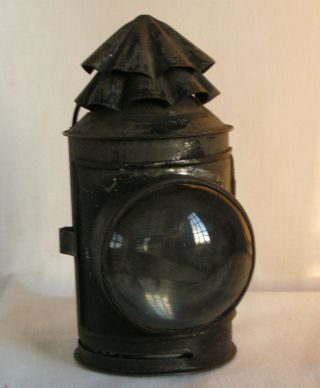 19th Century Hand Held Nautical Boat Signal Lantern Light Lamp photo