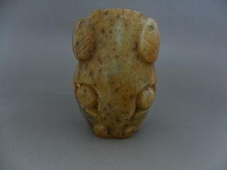 Chinese Hongshan Style Handwork Carved Jade Statue Of Sheep Head - Jx10937 photo