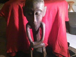 African Wood Carving:statue:kongo,  Baule,  Lobi,  Africa.  Tribal Art: photo