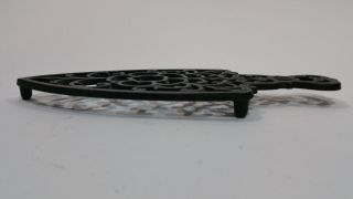 Vintage Wilton Cast Iron Footed Trivet Lots Of Detail/ Flower photo