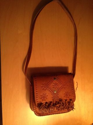 Vintage Leather Purse - African Purse - African Serving Bowl photo