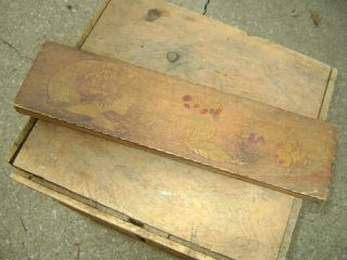 Collectible Antique Pencil Or Paint Brush Holding Box. photo