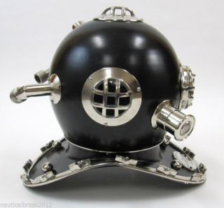 Divers Helmet Mark V (black) Navy Scuba Helmet Collectible Gift Item photo