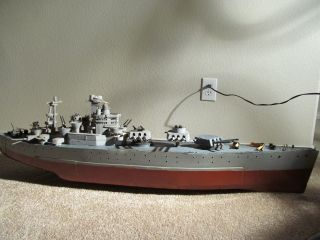 Vintage Pond Battleship Folk Art Weighted Rare photo