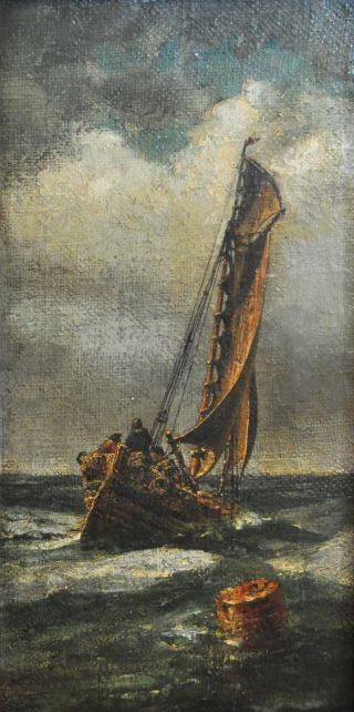 Rare Nautical Oil Painting In The Style Of Winslow Homer Dated 1966 - photo