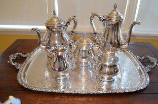 Solid Sterling Silver Coffee/tea Set 5pc International