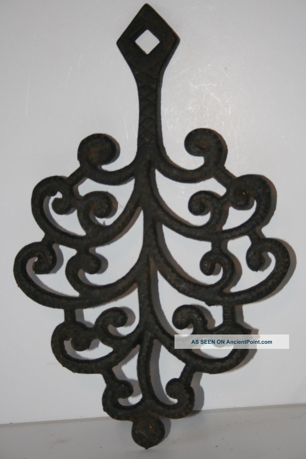 Vintage Antique Sad Iron Cast Iron Trivet John Wright Trivets photo