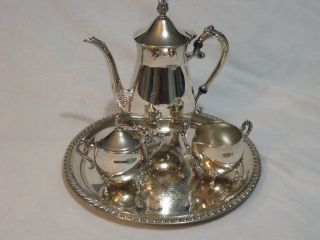 Leonard 4 Piece Silver Plate Tea Set photo