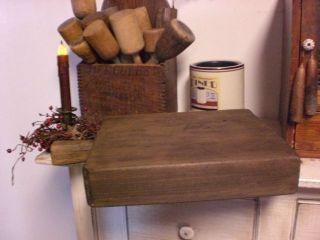 Primitive Antique 19 C Wooden Butcher Block Cutting Board Chopping Board photo