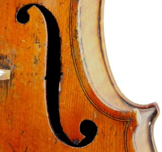 Very Good Antique French Violin For Beare & Sons,  London - Good Cond.  Ready To Play photo