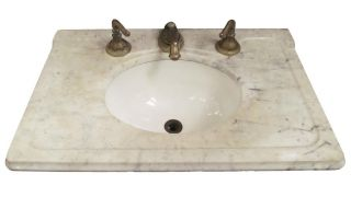 Marble Top Sink With Bowl photo