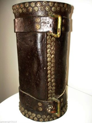 1903? Hgr Hepburn Gale Ross Black Powder Military Ammo Canister Saddle Bucket photo